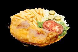 Omletă cu șuncă și mozzarella