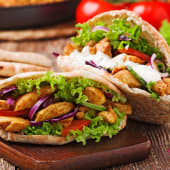 Doner kebab de pollo