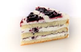 Blue berry cake slice
