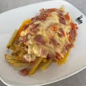 Huevos rotos con bacon