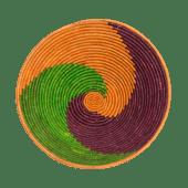 Orange/Green/Red Weaved Basket