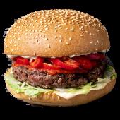 Burger Red Hot (3 papryczki) XL