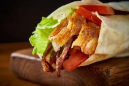 Kebab w cienkim cieście - mieszane mięso
