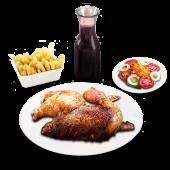 1/2 pollo + jarra chicha (1 lt.)