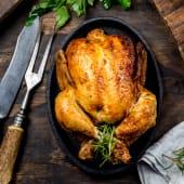Pollo intero al naturale