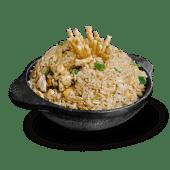 Taza chaufa de pollo + 1 wantán