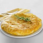 Tortilla de patatas con pimiento verde (mediana)