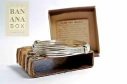 2 knot bracelet silver (thin)