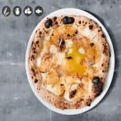Pizza de panceta curada y patata asada
