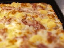 Patate e prosciutto cotto o bacon
