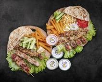 Suvlaki menu (for 3 person)