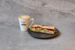 Zestaw bagietka i kawa L / Baguette with large coffee set