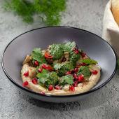 Хумус з печеними баклажанами та песто (250г)