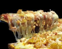 Combo pizza BBQ piña mediana
