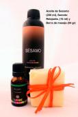 Spa Relajante (Aceite de sésamo, secreto relajante y barra de masaje)