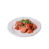 Currywurst kiełbasa drobiowa + frytki