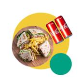 Club Sandwich for 2 person +2x coca-cola