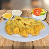 Chicharron De Pollo Con Papas Fritas Y Ensalada Personal + 2 Salsas