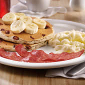 Banana pecan pancake breakfast