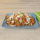 Thai Satay piletina grill wok rižini rezanci s povrćem