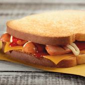 Hot toast con wurstel di suino
