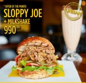Buy one Sloppy Joe & get a free drink