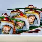 Salmon mango wasabi fresco 8 pezzi