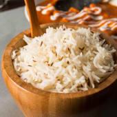 Arroz blanco basmati con semillas de comino (jeera chawal)