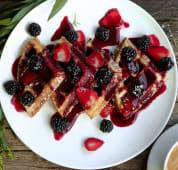 Berrylicious waffles