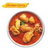 Chicken curry with accompaniment