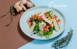 Салат з маринованим лососем (200г)