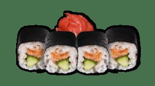 Рол лосось з огірком (6шт)