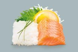 Menu petit sashimi saumon 7 pc