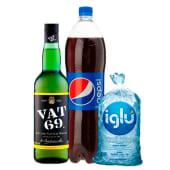 Vat 69 750 Ml + Pepsi 1.5 Lt + Hielo 1.5 Kg