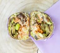 Spicy tuna poke burrito
