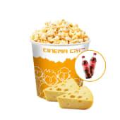 Комбо поп-корн сирний (5000мл) + напій 2шт (500мл)