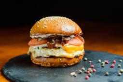 Бургер Сирний папа з куркою (4 сири з куркою)