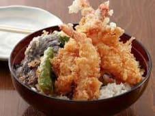 Riso tendon con tempura di gamberi