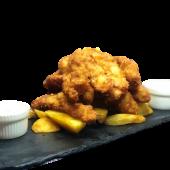 Crujientes de pollo (ración)