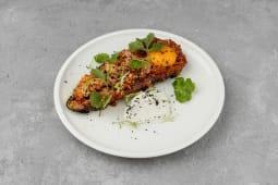 Сніданок Баклажан запечений, м'ясне рагу, пармезан (270г)