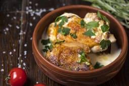 Курча по-чкмерульськи у вершковому соусі (250г)