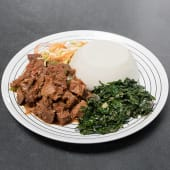 Beef stew with ugali