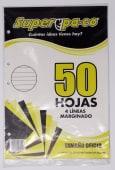 Papel Bond Perforado Marginado 4 Lineas Oficio Pqtx50Hjs