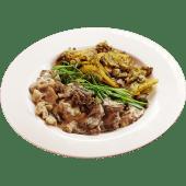 Телятина с грибами и картофелем по-домашнему