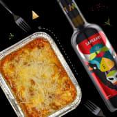 Lasagna bolognese&vin Castel Mimi