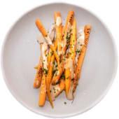 Zanahorias en holandesa de chalotas