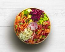 Poke bowl salmon tuna