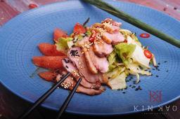 Салат з качкою, грейпфрутом та понзу (200г)
