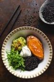 Батат із диким рисом та гуакамоле (300г)