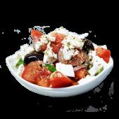 Грецький салат з фалафелем